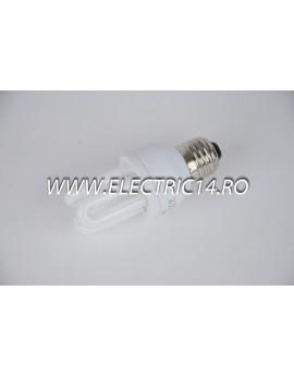 Bec economic E27 8w 3U genie  lumina rece Philips