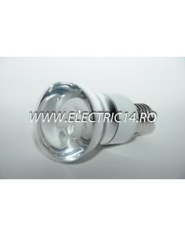 Bec economic E27 15w R63 lumina rece Moon