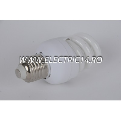 Bec economic E27 15w spirala lumina calda Moon