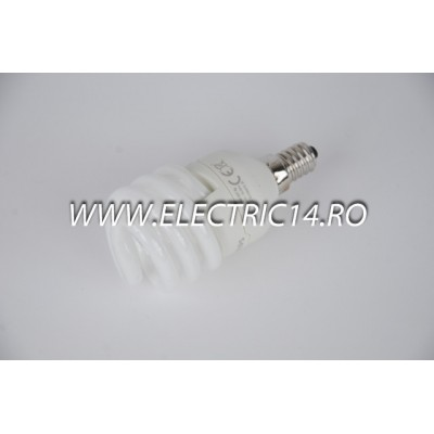 Bec economic E14 12w spirala lumina calda Philips