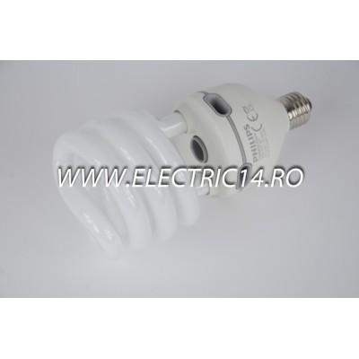 Bec economic E27 42w spirala lumina rece Philips