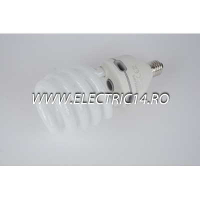 Bec economic E27 60w spirala lumina calda Philips