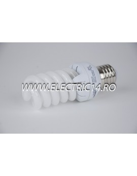 Bec economic E27 18w spirala mini lumina calda Lohuis