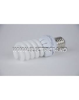 Bec economic E27 20w spirala mini lumina calda Lohuis
