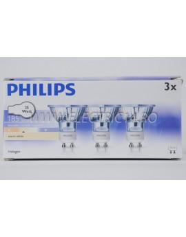 Bec Halogen GU10 230v 35w - Philips  Set-3 bucati