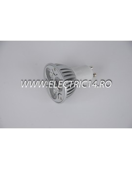 Bec led GU10 3w POWER Lumina Calda