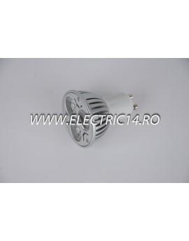 Bec led GU10 3w POWER Lumina Rece