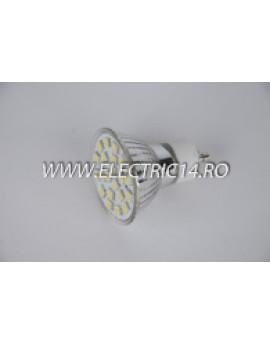 Bec led GU10 4w 21 PCS Lumina Calda