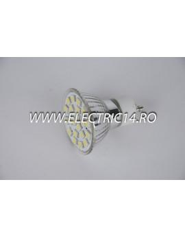 Bec led GU10 4w 21 PCS Lumina Rece