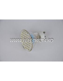 Bec led GU10 3w 48 PCS SMD Lumina Calda
