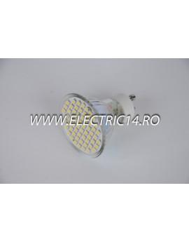 Bec led GU10 3,5w 60 PCS SMD Lumina Calda