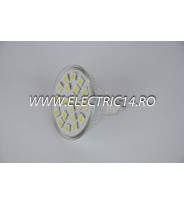 Bec led MR16 4w 21 PCS SMD  Lumina Calda