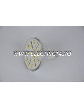 Bec led MR16 4w 21 PCS SMD  Lumina Rece