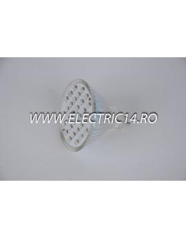 Bec led MR16 2,5w 30 PCS SMD Rosu