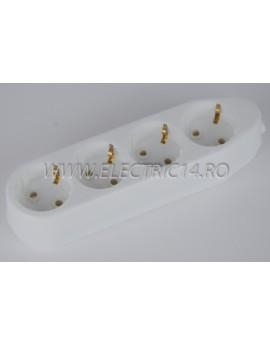Cap Prelungitor Schuko 4 Posturi Ceramic Ipee