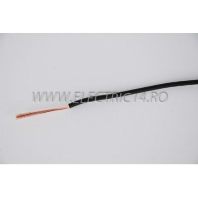 Conductor Flexibil (MYF) Cupru 1,5 mm Negru Rola 100ml