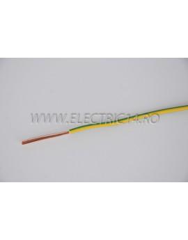 Conductor Flexibil (MYF) Cupru 1,5 mm Verde Galben Rola 100ml CONDUCTORI