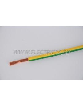 Conductor Flexibil (MYF) Cupru 10 mm Verde Galben Rola 100ml CONDUCTORI