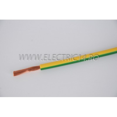 Conductor Flexibil (MYF) Cupru 10 mm Verde Galben Rola 100ml