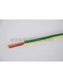 Conductor Flexibil (MYF) Cupru 16 mm Verde Galben Rola 100ml CONDUCTORI