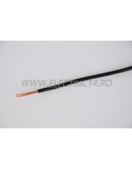 Conductor Flexibil (MYF) Cupru 2,5 mm Negru Rola 100ml