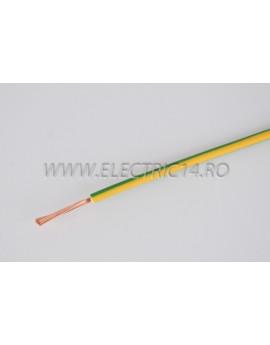 Conductor Flexibil (MYF) Cupru 2,5 mm Verde Galben Rola 100ml CONDUCTORI