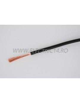 Conductor Flexibil (MYF) Cupru 4 mm Negru Rola 100ml