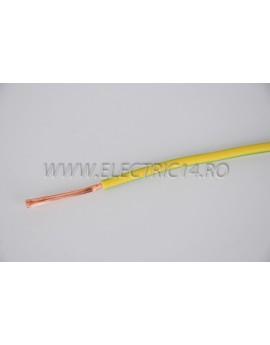 Conductor Flexibil (MYF) Cupru 4 mm Verde Galben Rola 100ml CONDUCTORI