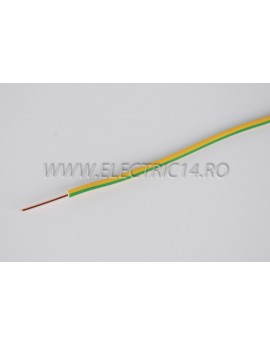 Conductor Rigid (FY) Cupru 1.5 mm Verde Galben Rola 100ml CONDUCTORI