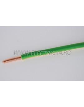 Conductor Rigid (FY) Cupru 16 mm Verde Galben Rola 100ml