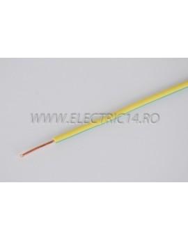 Conductor Rigid (FY) Cupru 2.5 mm Verde Galben Rola 100ml CONDUCTORI