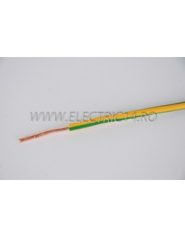 Conductor Rigid (FY) Cupru 6 mm Verde Galben Rola 100ml CONDUCTORI