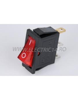 Intrerupator 1 Mod simplu KCD3 Rosu
