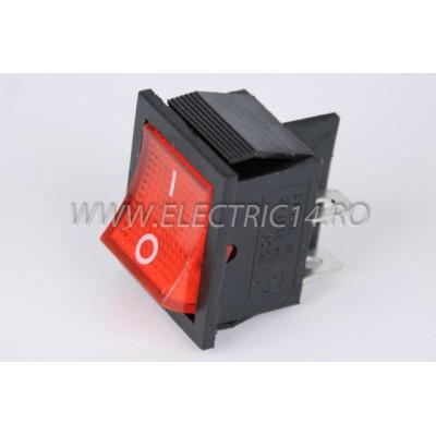 Intrerupator 2 Mod Simplu KCD4 Rosu