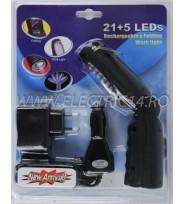 Lampa Garaj Acumulator 26 Led HS2015
