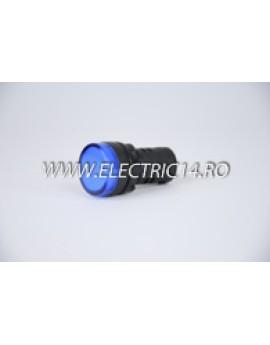 Lampa semnalizare 22mm albastru AUTOMATIZARI