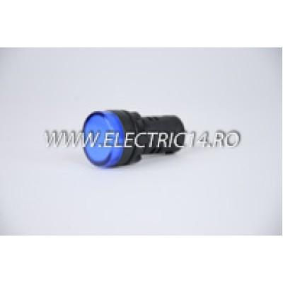 Lampa semnalizare 22mm albastru