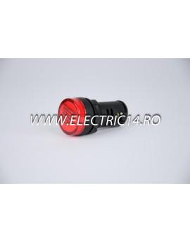 Lampa semnalizare 22mm rosu