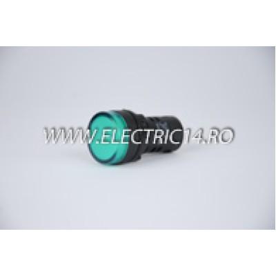 Lampa semnalizare 22mm verde