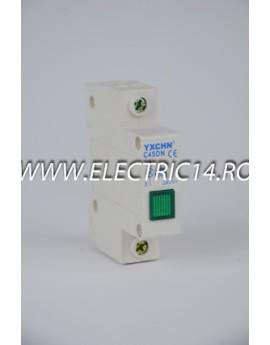 Lampa semnalizare tablou verde