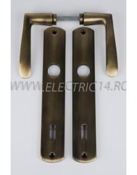 Maner cu Sild cheie 90mm 670 RAB Brass antique