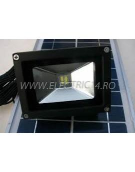 Proiector Led 10w Panou Solar  Lumina Rece