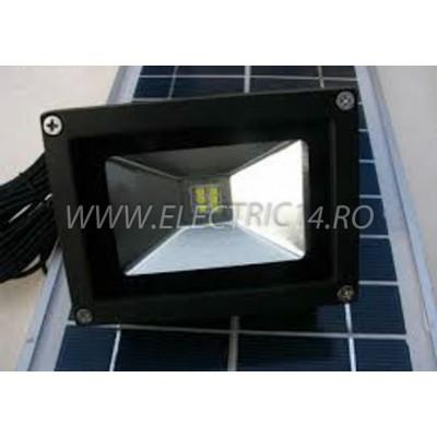 Proiector Led 5w Panou Solar  Lumina Rece