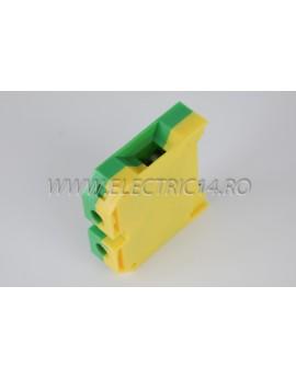 Clema Sina 35 mm verde-galben