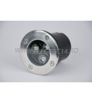 Spot Led Pavaj 3w 100mm Lumina Rece IP65 (int.94mm)