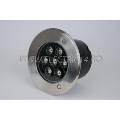 Spot Led Pavaj 7w 150mm Lumina Rece IP65 (int.134mm)
