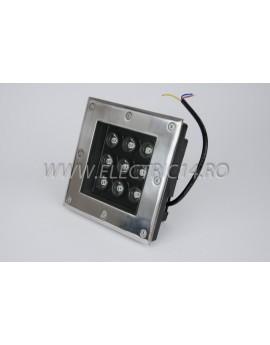 Spot Led Pavaj 9w 160x160mm Lumina Rece IP65 (int.154x154mm)