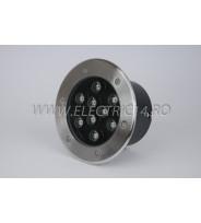 Spot Led Pavaj 9w 180mm Lumina Rece IP65 (int.158mm)