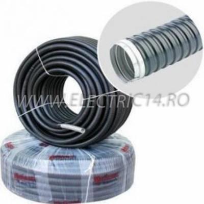 Copex metalic cu izolatie de pvc 16 mm, rola-50 ml
